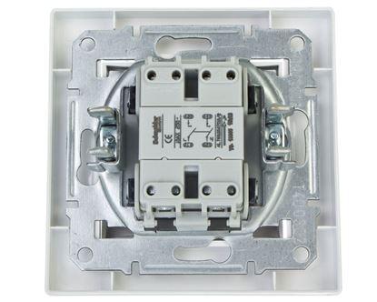 ASFORA Łącznik dwubiegunowy jednoklawiszowy zaciski śrubowe biały EPH0200321