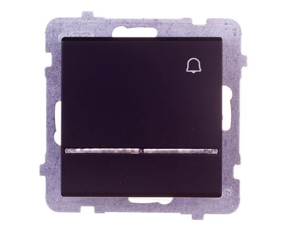 SONATA Przycisk /dzwonek/ z podświetleniem czarny metalik ŁP-6RS/m/33