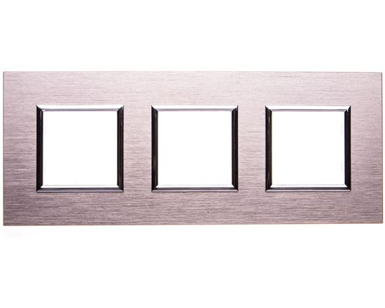 DANTE Ramka potrójna aluminium anodowane INOX 4541283