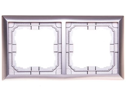 KOS66 Ramka podwójna aluminium 664082