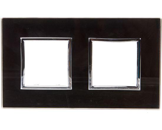 DANTE Ramka podwójna szkło BLACK GLASS 4509182