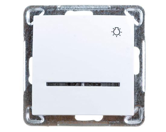 IMPRESJA Przycisk /światło/ z podświetleniem biały ŁP-5YS/m/00