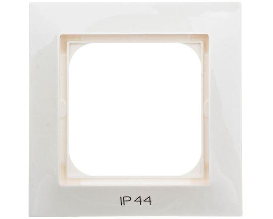 IMPRESJA Ramka pojedyncza do łączników IP44 ecru RH-1Y/27