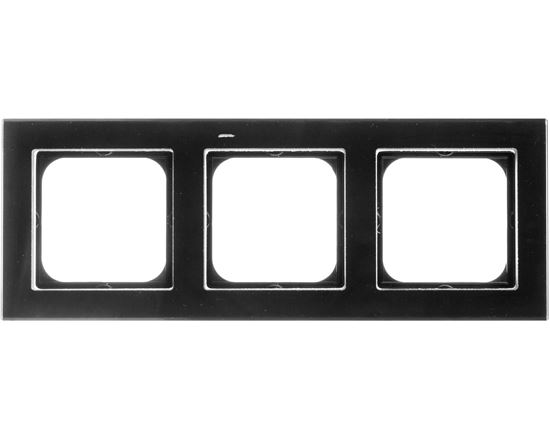 SONATA Ramka potrójna czarne szkło R-3RG/32