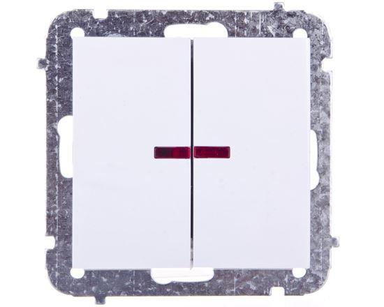 Sentia Łącznik świecznikowy 10A z podświetleniem biały 1424-10