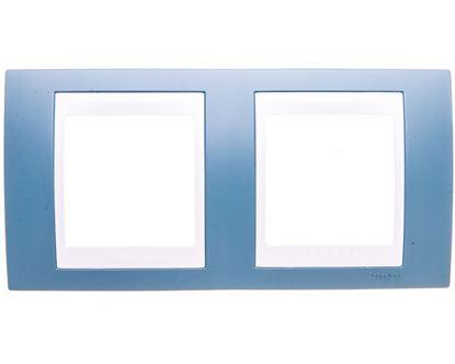 Unica Plus Ramka podwójna pozioma błękit manganowy MGU6.004.873