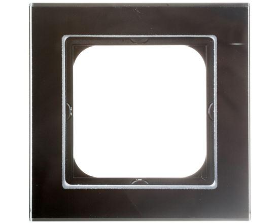 SONATA Ramka pojedyncza czarne szkło R-1RG/32
