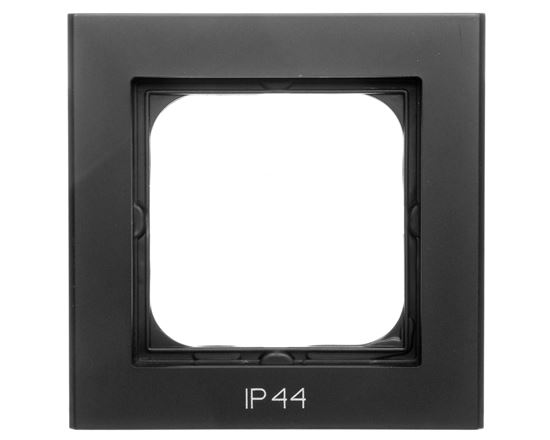 SONATA Ramka pojedyncza do łączników IP44 czarny metalik RH-1R/33