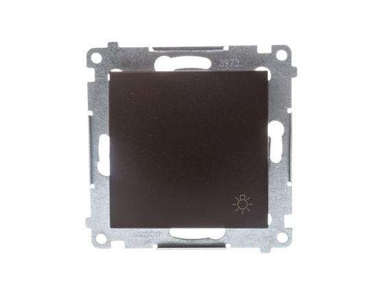 Simon 54 Przycisk /światło/ brąz mat DS1.01/46