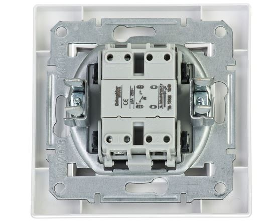 ASFORA Przycisk pojedynczy zaciski śrubowe biały EPH0800321