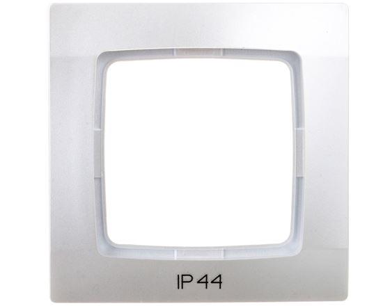KARO Ramka pojedyncza do łączników IP44 srebrny perłowy RH-1S/43