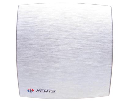 Wentylator osiowy fi 100 230V 14W 88m3/h 33dB timer i higrostat szczotkowane aluminium 100LDATHMET