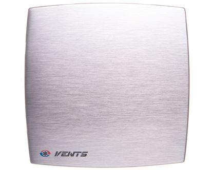 Wentylator osiowy fi 100 230V 14W 88m3/h 33dB timer szczotkowane aluminium 100LDATMET
