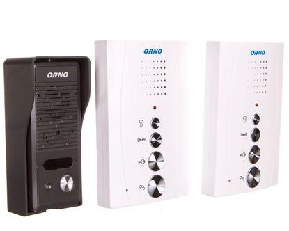 ZZestaw domofonowy jednorodzinny z interkomem, bezsłuchawkowy, biały, ELUVIO INTERCOM OR-DOM-RE-920/W