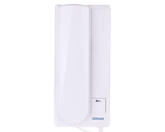 Zestaw domofonowy jednorodzinny FOSSA biały/ srebny OR-DOM-RL-901