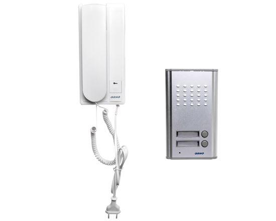 Zestaw domofonowy dwurodzinny FOSSA MULTI biały/ srebny OR-DOM-RL-903
