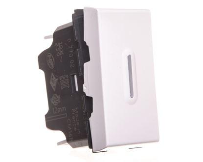 MOSAIC Łącznik schodowy /zmożliwością podświetlenia/ 10AX 250V biały 077002
