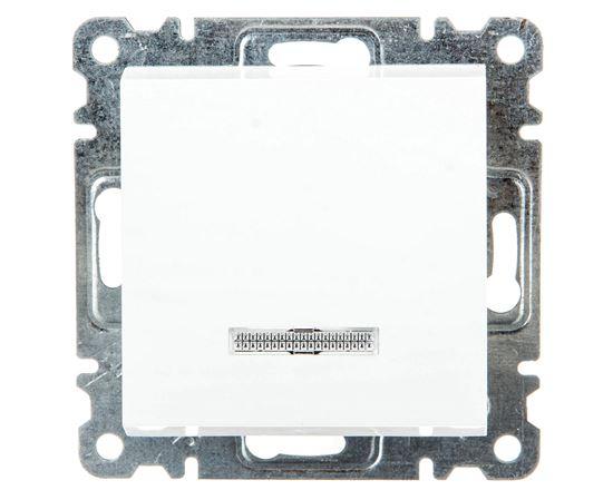 LUMINA2 Łącznik zwierny z podświetleniem 10AX 230V biały WL0410