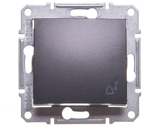 """SEDNA Przycisk """"dzwonek"""" IP44 grafitowy SDN0800370"""