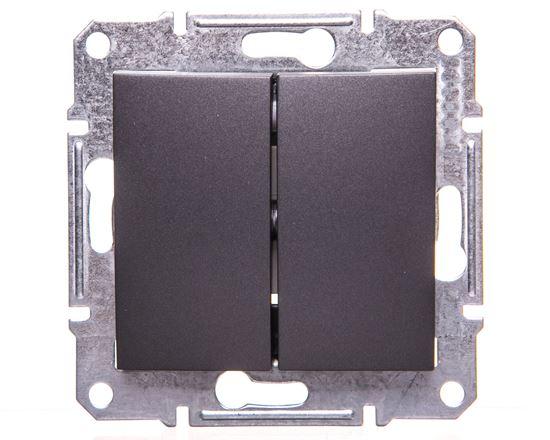 SEDNA Łącznik świecznikowy 10AX grafitowy IP44 SDN0300470