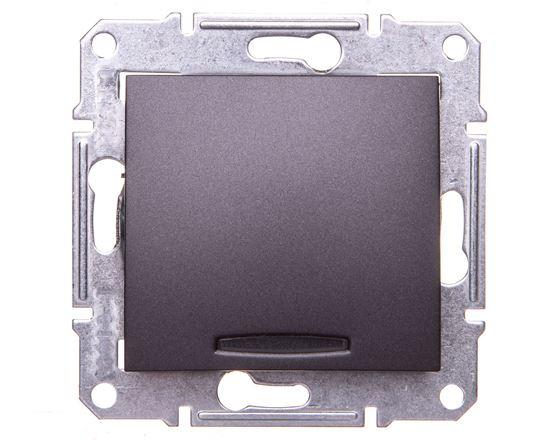 SEDNA Łącznik jednobiegunowy 10AX z podświetleniem LED grafitowy SDN1400170