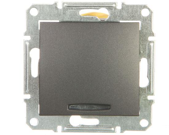 SEDNA Łącznik schodowy 16AX z podświetleniem grafitowy SDN1500270