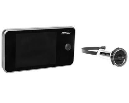 Elektroniczny wizjer do drzwi 3,2cala z szerokokątnym obiektywem srebrny OR-WIZ-1104/G