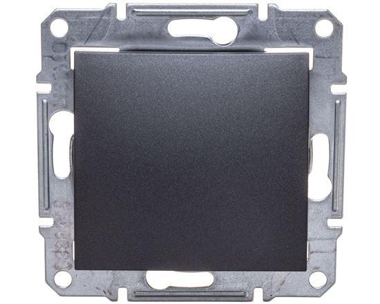 SEDNA Przycisk jednobiegunowy 1Z grafitowy SDN0700170