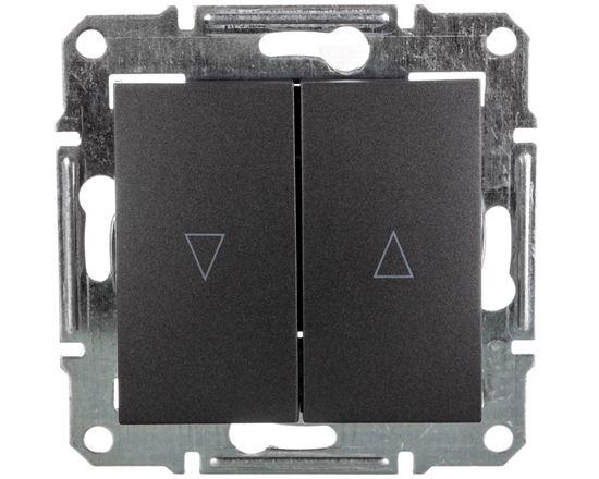 SEDNA Łącznik żaluzjowy 2-biegunowy z blokadą elektryczną 10A grafitowy SDN1300170