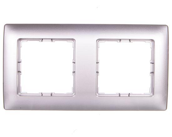 VENA Ramka podwójna aluminium 514082