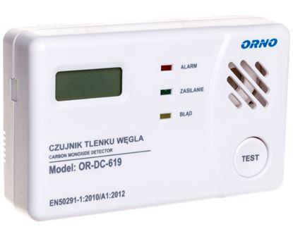 Bateryjny czujnik tlenku węgla (czadu) prostokątny 3x1,5V OR-DC-619-TEST