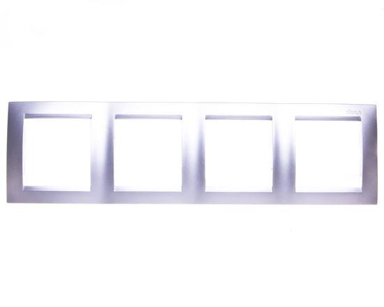Simon 15 Ramka poczwórna uniwersalna aluminium metalizowane 1501640-026