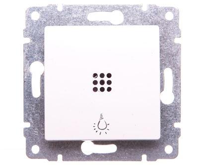 VENA Przycisk /światło/ z podświetleniem biały 520413