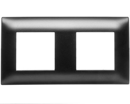 DANTE Ramka podwójna tworzywo lakierowane CZARNY 450982