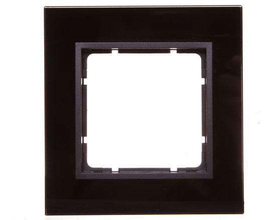 Berker B7 GLAS Ramka pojedyncza pozioma/ pionowa szklana antracytowa 10116616