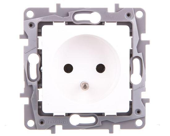 NILOE Gniazdo pojedyncze z/u 16 A 250 V białe 764540