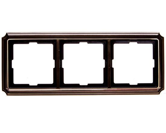 Merten Antique Ramka potrójna mosiądz antyk MTN483343