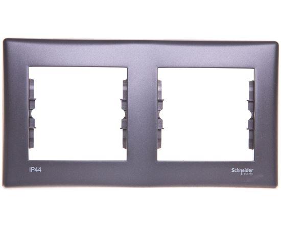 SEDNA Ramka podwójna pozioma grafitowa IP44 SDN5810370