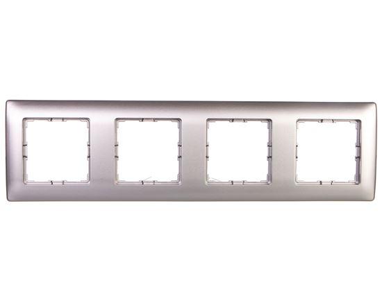 VENA Ramka poczwórna aluminium 514084
