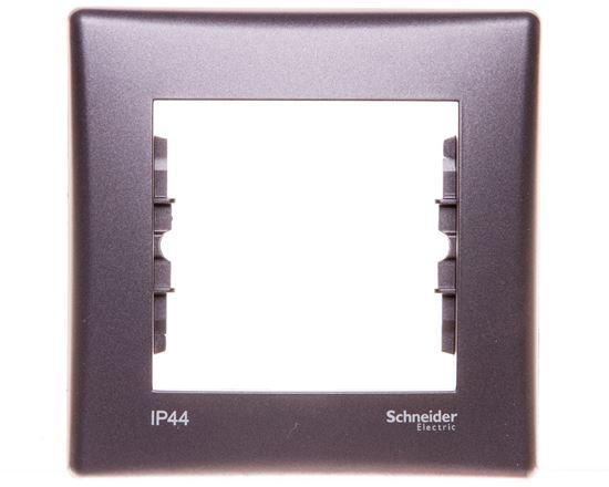SEDNA Ramka pojedyncza grafitowa IP44 SDN5810170
