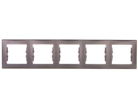 SEDNA Ramka pięciokrotna pozioma grafitowa SDN5800970