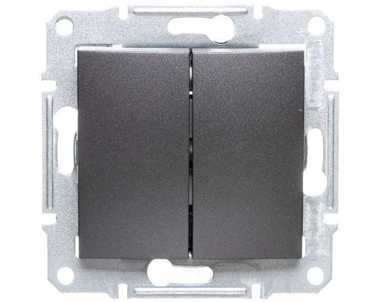 SEDNA Łącznik schodowy podwójny 10AX grafitowy IP20 SDN0600170