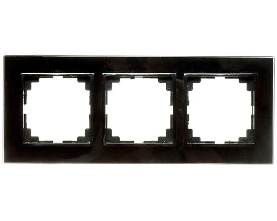 Sentia Ramka potrójna szklana czarna 1473-61