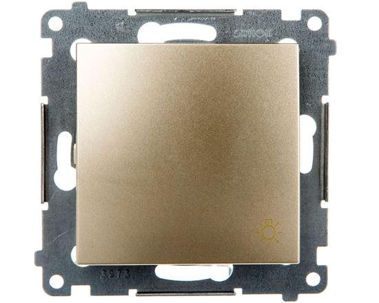 Simon 54 Przycisk /światło/ złoty mat DS1.01/44