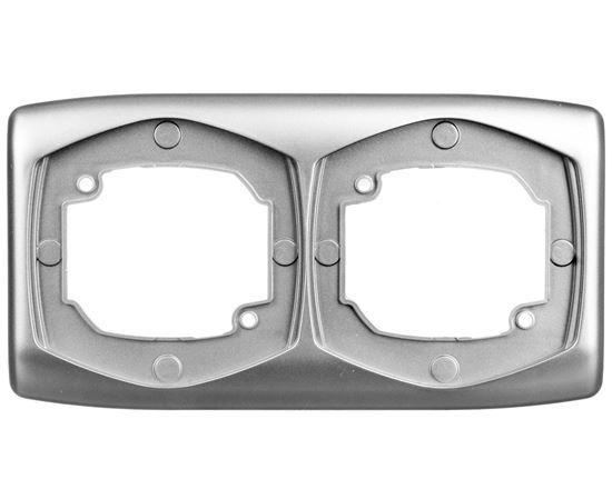 TON Ramka podwójna pozioma srebro R-2CH/18