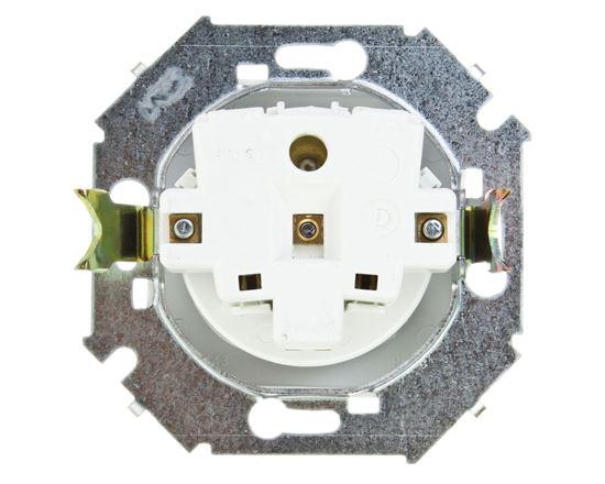 Simon 15 Gniazdo pojedyncze z/u 16A IP20 białe 1591408-030