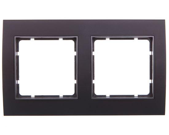 Berker B.3 Ramka podwójna aluminium czarny/antracyt 10123005