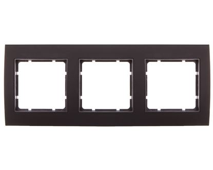 Berker B.3 Ramka potrójna aluminium czarny/antracyt 10133005