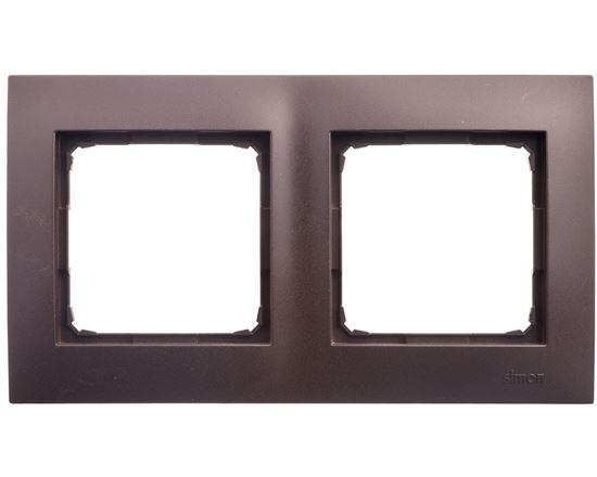 Simon 54 Premium Ramka podwójna brąz mat DR2/46
