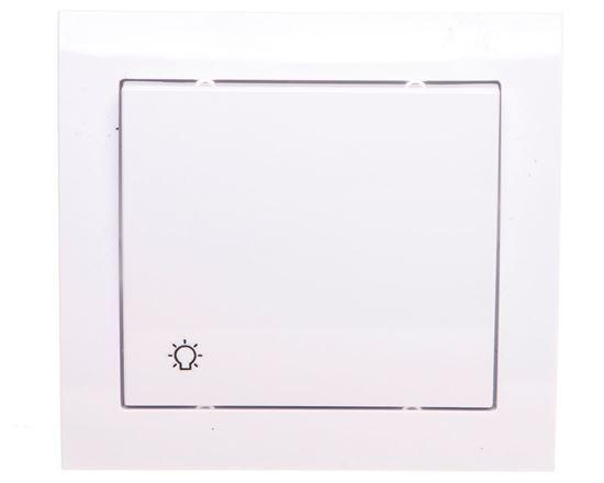 KIER Przycisk /światło/ biały ŁP-5W/00